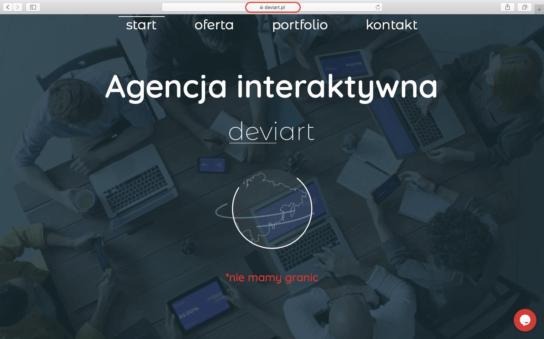 Co to jest domena? Pokazane na zrzucie ekranu w postaci adresu deviart.pl